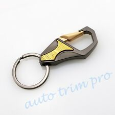 Stainless Steel Car Motor Accessory Keyring Keychain Key Chain Ring Keyfob Trim