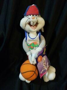 1996 Vintage Bugs Bunny Vintage McDonald's Tune Squad Plush Toy Space Jam