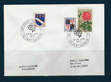 FRd  enveloppe Fleurs les roses en Picardie  02 Saint-Quentin   1972