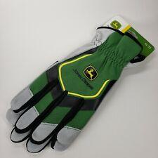 John Deere XL All-Purpose Utility work gloves green/black/gray w/ logo COWHIDE