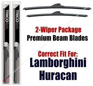 Wipers 2-Pack Premium Wiper Beam Blades fit 2019+ Lamborghini Huracan 19260/160