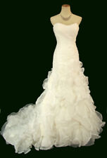 NEW Jovani White Mermaid Pageant Wedding Gown Long Formal Bridal $1500 Size 4
