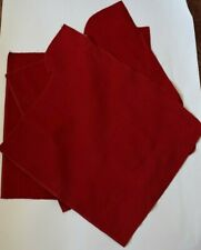 Fabric Needlecord babycord corduroy fine remnants of red fabric set of 3