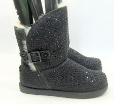 NEW Blacks/ rhinestone round toe comfortable winter ankle boot .Size 8.5