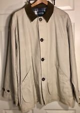 WAS $88.00 NWT! BRAND?? MENS BARN JACKET WITH FLANNEL LINING BEIGE SIZE L