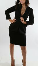 LUCIANO BARBERA Black Cashmere Skirt Suit Size 36