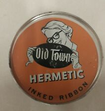 Vintage Inked Ribbon! Old Town! Hermetic! Black and Red Ink! Unique old Item!