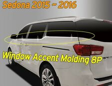 Window Accent Molding Chrome Garnish Trim B246 8Pcs AC for KIA Sedona 2016~2019