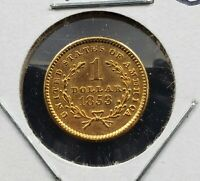 1853 $1 Type 1 Liberty Head Dress Gold Dollar Coin EX JEWELRY COIN CONDITION OK