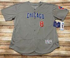 Majestic CHICAGO CUBS Jersey IAN HAPP Road GREY Sewn MLB Baseball Sz 56 3XL BNWT