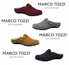 MARCO TOZZI 27501 Ladies Wool Clog Mule Slippers wiith Leather insole