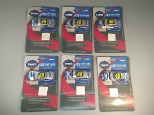 Lot of 6 Team Lowe's Racing Nascar #48 Jimmie Johnson 1:64 No Gift Card New
