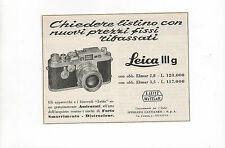 Pubblicità vintage 1958 LEICA PHOTO FOTO LEITZ old advertising reklame werbung