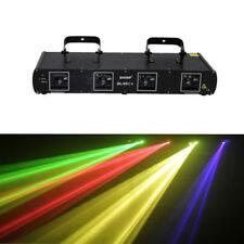 Shinp Red+Green+Blue+Yellow 560mW 4 Lens Laser Stage Light DJ Lighting Party DMX