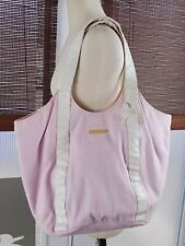 Juicy Couture Light Pastel Pink & White Tote Purse Large 00s Fashion