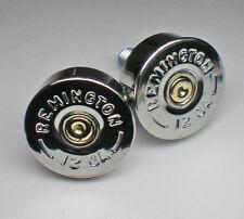 12 Gauge Nickel Shotgun Bullet Head License Plate Bolts Motorcycle Harley Honda