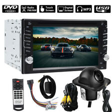2Din HD Car Stereo DVD CD Player Bluetooth Auto Radio +Backup Parking Camera GPS