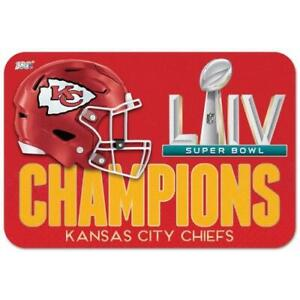 "Kansas City Chiefs Super Bowl 54 LIV Champions 20"" X 30"" Welcome Mat"