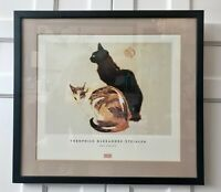 """Theophile Alexandre Steinlen """"Les Chats"""" Matted Framed Print Cats Black & Calico"""