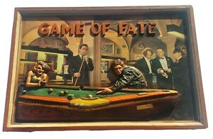 One of a kind 3D Monroe James Dean Bogart three stooges billiards Game of Fate