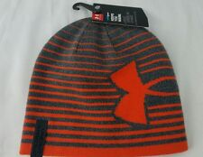 Brand New with tags UNDER ARMOUR Cold Gear Youth OSFA Beanie Hat  Gray & Orange