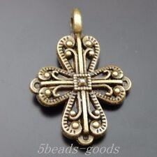 23pcs Antiqued Bronze Alloy Fashion Wand Cross Decoration Pendants 18*26mm 39880