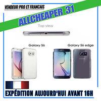 COQUE Housse FINE GALAXY S6 & S6 EDGE GEL SILICONE TRANSPARENTE TPU 0.5MM ÉTUI
