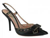 Pura Lopez 329 Women's Dressy Slingback  Pointy Toe Mid Heel Sandal