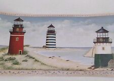 Imperial-Nautical Lighthouses-Beach Ocean Sea Wall Paper Border DC2082B - NEW
