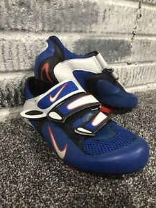 Women's Nike OCLV Carbon Road Cycling Bike Shoes Made Italy Blue/Red Size 8 VTG