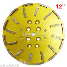 "12"" Concrete Grinding Head for Floor Grinders - 24 Segments 25/30 Grit"