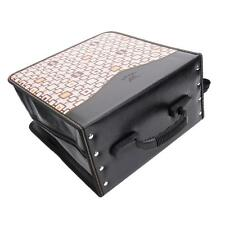 520-Piece Check Pattern CD DVD Storage Bag Holder Media Viedo Case Khaki & Black