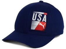 New Licensed Puma USA Red White & Blue Flexfit Hat Size L/XL _SA