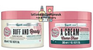 Soap and & Glory BUFF AND READY Scrub and A CREAM COME TRUE Butter 300ML