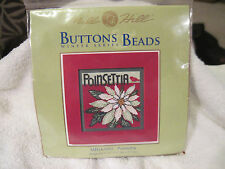 Mill Hill Buttons & Beads Kit! Poinsettia!  Flower for Christmas!! Cardinal!