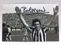 RARE Bob Moncur Newcastle Signed Photo + COA AUTOGRAPH FAIRS CUP FINAL NUFC