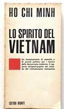 Ho Chi Minh Lo spirito del Vietnam Editori Riuniti 1968 prima ediz Calamandrei