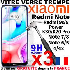 Protection Ecran Pour XIAOMI REDMI NOTE 9/9s Pro MI 8T K30i Vitre Verre Trempé