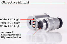 Jeweler Eye Jewelry Loupe Loop Bright LED Light  60x Glass Magnifying Magnifier