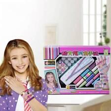 Girls Bracelet Braiding Maker Kit Jewelry Making Set Weaving Craft DIY Kit