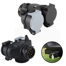13 Pin to 7 Pin Trailer Light Board Extension Adaptor Socket Plug Caravan Towing