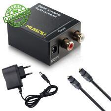DAC Convertisseur Audio Analogique NuméRique Rca Vers Optique Toslink Coaxial