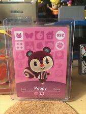 Poppy 052 52 Animal Crossing Amiibo Card Horizon Series 1 MINT NEVER SCANNED!