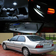 94-97 Honda Accord Xenon LED Bulb Full Package Door Map Trunk Dome Plate 12pcs