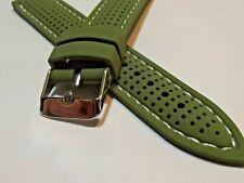 cinturino verde tropic di qualità silicone con cuciture 20 o 22mm mm watch strap