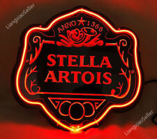 New Stella Artois Belgian 3D Acrylic Beer Bar PUB  Real Neon Sign light