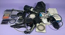 mixed photography extras lot junk drawer minolta brands hoya filters other