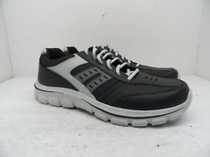 Skechers Men's Relaxed Fit Memory Foam Insole Lace Up Casual Shoe Black/Gray 12M