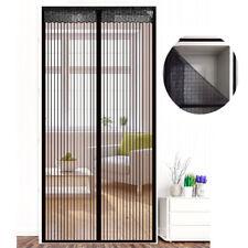 Fliegengitter Tür Insektenschutz Magnet Vorhang Fliegenvorhang Klettband Schwarz