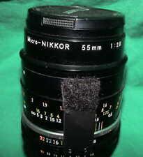 Nikon Micro-NIKKOR 55mm 1:2.8 AI-S Bajonett Bayonet Shutter Objektiv Macro Lens